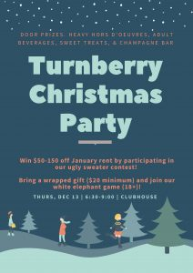 Annual Christmas Party @ Turnberry Clubhouse